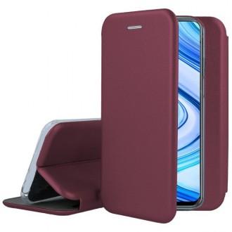 """Bordo spalvos atverčiamas dėklas """"Book elegance"""" telefonui Iphone 12 / 12 Pro"""