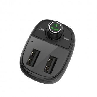 Borofone BC16 Bluetooth MP3 grotuvas / FM bangų moduliatorius (laisvų rankų įranga, microSD, SD, 2xUSB, 3.4A įkroviklis)