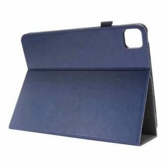 """Tamsiai mėlynas atverčiamas dėklas """"Folding Leather"""" planšetei Lenovo Tab P11 / IdeaTab P11 J606F"""
