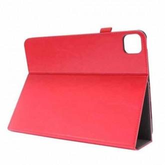 """Raudonas atverčiamas dėklas """"Folding Leather"""" planšetei Lenovo Tab P11 / IdeaTab P11 J606F"""