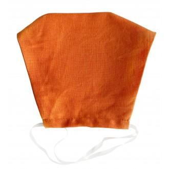 Daugkartinė apsauginė 3 sluoksnių veido kaukė oranžinė