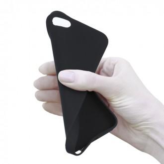 Dėklas Rubber TPU iPhone 13 Pro Max juodas