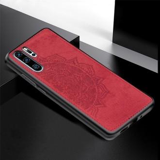 Raudonas silikoninis dėklas ''Mandala'' su medžiaginiu atvaizdu telefonui Samsung A32 5G