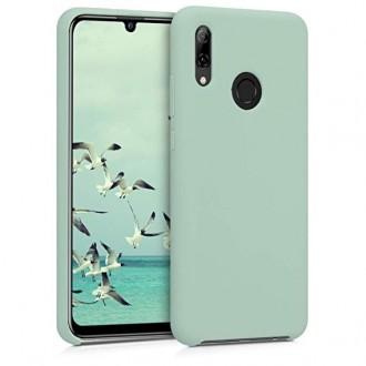 """Mėtinės spalvos silikoninis dėklas Huawei P Smart Z / Y9 Prime 2019 telefonui """"Liquid Silicone"""" 2.0mm"""