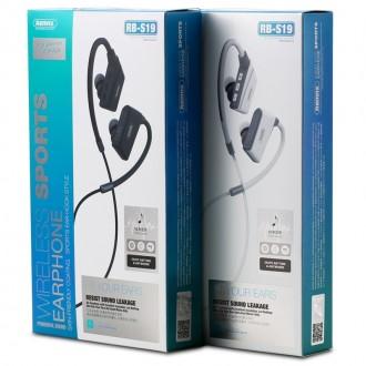 Juoda belaidė laisvų rankų įranga Remax RB-S19 Bluetooth
