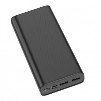 Juoda išorinė baterija Power Bank Hoco J55A 20000mAh