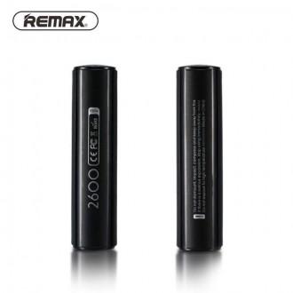 Juoda išorinė baterija Power Bank Remax RPL-33 2600mAh