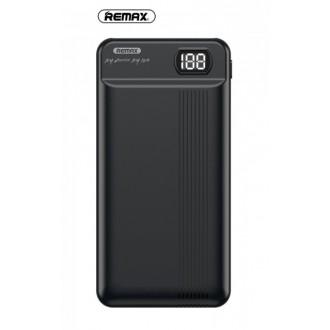 Juoda išorinė baterija Power Bank Remax RPP-106 20000mAh