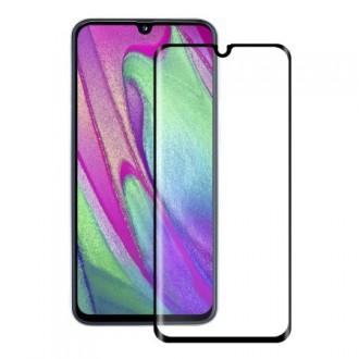 """Juodais apvadais apsauginis grūdintas stiklas Samsung Galaxy A405 A40 telefonui """"Diamond Edge Full Glue"""""""