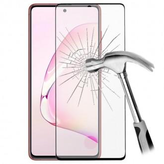"""Juodais apvadais apsauginis grūdintas stiklas Samsung Galaxy N770 Note 10 Lite / A81 telefonui """"Diamond Edge Full Glue"""""""