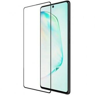 """Juodais apvadais apsauginis grūdintas stiklas Samsung Galaxy S10 Lite / A91 telefonui """"Diamond Edge Full Glue"""""""