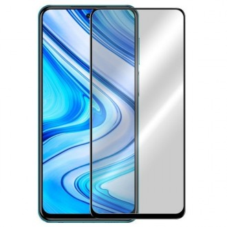 """Juodais apvadais apsauginis grūdintas stiklas Xiaomi Redmi Note 9 Pro / Note 9S telefonui """"9H 5D"""""""