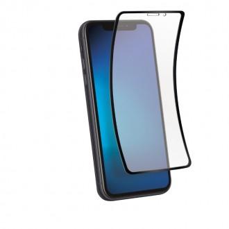 """Juodais apvadais apsauginis stikliukas """"Full Hybrid Glass"""" Apple iPhone XR / 11 telefonui"""