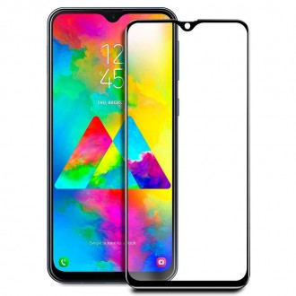 "Juodais apvadais apsauginis grūdintas stiklas Samsung Galaxy A505 A50 / A507 A50s / A307 A30s / A305 A30 telefonui ""Diamond Hybrid Edge"""