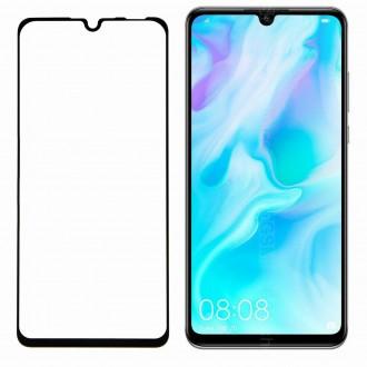 """Juodas 3D apsauginis stikliukas """"3MK Hard Glass"""" Huawei P30 Lite telefonui"""