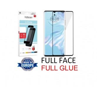 """Juodas apsauginis grūdintas stiklas Huawei P30 telefonui """"MyScreen Lite Edge Full Glue"""""""