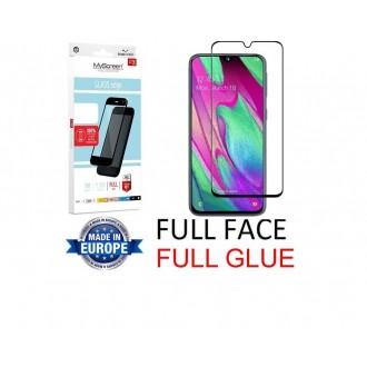 """Juodas apsauginis grūdintas stiklas Samsung Galaxy A405 A40 telefonui """"MyScreen Lite Edge Full Glue"""""""