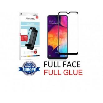 "Juodas apsauginis grūdintas stiklas Samsung Galaxy A505 A50 / A507 A50s / A307 A30s / A305 A30 telefonui ""MyScreen Lite Edge Full Glue"""