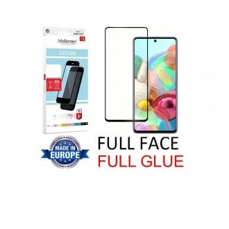 """Juodas apsauginis grūdintas stiklas Samsung Galaxy A715 A71 telefonui """"MyScreen Lite Edge Full Glue"""""""