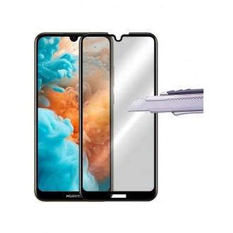 """Juodas apsauginis stikliukas """"5D Full Glue"""" Huawei Y6 2019 / Y6 Pro 2019 telefonui"""