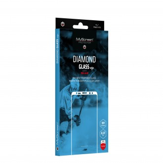 "Juodas apsauginis stikliukas ""MyScreen Diamond Edge Full Glue"" Apple iPhone 12 / 12 Pro telefonui"