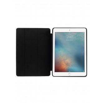 """Juodas atverčiamas dėklas Apple iPad 9.7 2018 / iPad 9.7 2017 """"Smart Leather"""""""