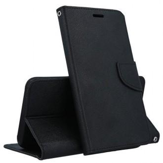 """Juodas atverčiamas dėklas """"Smart Fancy"""" telefonui Huawei P30"""