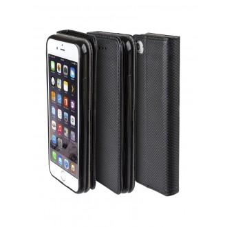 """Juodas atverčiamas dėklas Apple iPhone 5 / 5S telefonui """"Smart Magnet"""""""