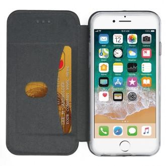 """Juodas atverčiamas dėklas Apple iPhone 6 / 6S telefonui """"Book Elegance"""""""
