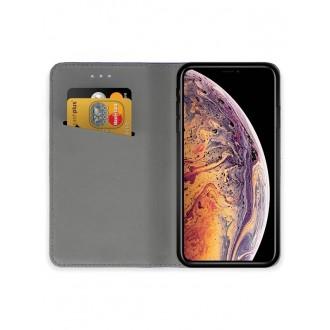 """Juodas atverčiamas dėklas Apple iPhone XS Max telefonui """"Smart Magnet"""""""