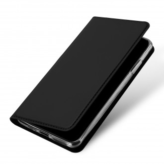 """Juodas atverčiamas dėklas Honor 9A telefonui """"Dux Ducis Skin"""""""