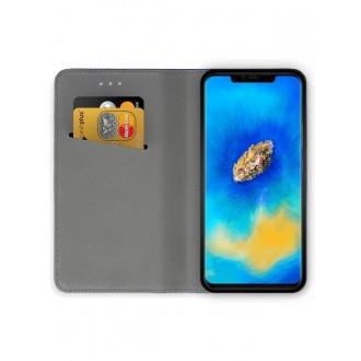 """Juodas atverčiamas dėklas Huawei Mate 20 Pro telefonui """"Smart Magnet"""""""