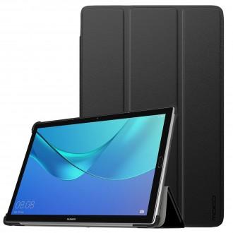 """Juodas atverčiamas dėklas Huawei MediaPad M5 10.8''   """"Smart Leather"""""""