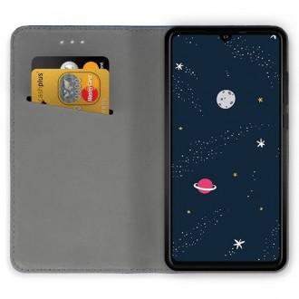 """Juodas atverčiamas dėklas Huawei P30 Lite telefonui """"Magnetic book"""""""