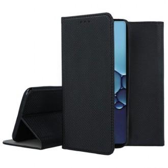 """Juodas atverčiamas dėklas Huawei P40 telefonui """"Smart Book Magnet"""""""