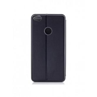 """Juodas atverčiamas dėklas Huawei P8 Lite 2017 / P9 Lite 2017 telefonui """"Book Elegance"""""""