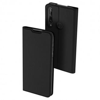 """Juodas atverčiamas dėklas Huawei Y6P telefonui """"Dux Ducis Skin"""""""