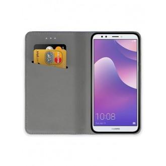 """Juodas atverčiamas dėklas Huawei Y7 2018 / Y7 Prime 2018 telefonui """"Smart Magnet"""""""