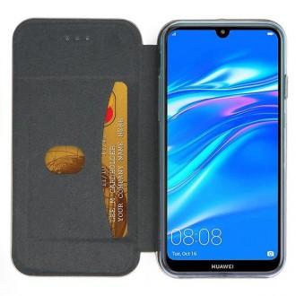 """Juodas atverčiamas dėklas Huawei Y7 2019 / Y7 Prime 2019 telefonui """"Book Elegance"""""""