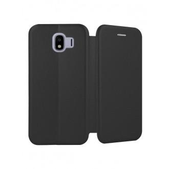 """Juodas atverčiamas dėklas Samsung Galaxy J400 J4 2018 telefonui """"Book Elegance"""""""