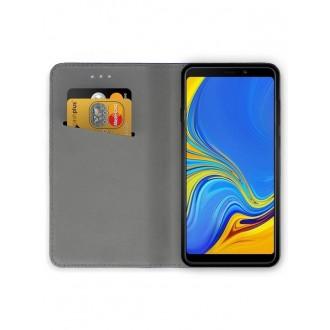 """Juodas atverčiamas dėklas Samsung Galaxy A920 A9 2018 telefonui """"Smart Magnet"""""""