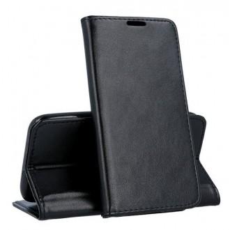 """Juodas atverčiamas dėklas Samsung Galaxy G390 Xcover 4 / G398 Xcover 4s telefonui """"Magnetic book"""""""