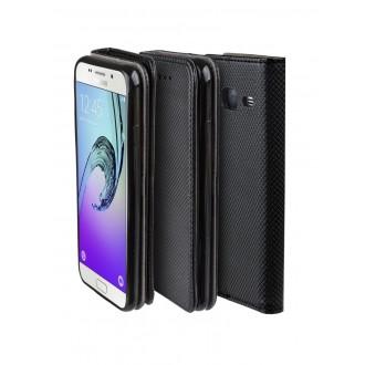 """Juodas atverčiamas dėklas Samsung Galaxy G530F / G531F Grand Prime telefonui """"Smart Magnet"""""""