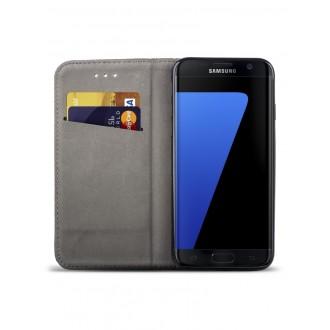 """Juodas atverčiamas dėklas Samsung Galaxy G935 S7 Edge telefonui """"Smart Magnet"""""""