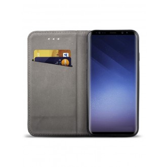 """Juodas atverčiamas dėklas Samsung Galaxy G960 S9 telefonui """"Smart Magnet"""""""