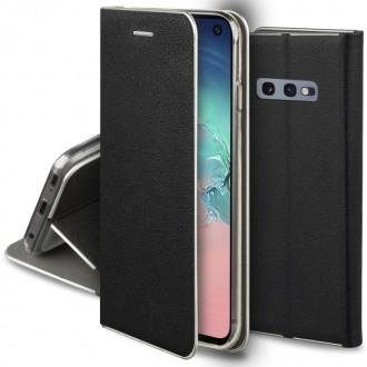 """Juodas atverčiamas dėklas Samsung Galaxy G970 S10e telefonui """"Smart Venus"""""""