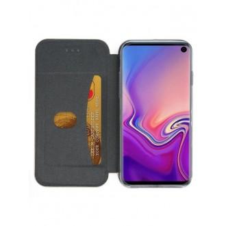 """Juodas atverčiamas dėklas Samsung Galaxy G973 S10 telefonui """"Book Elegance"""""""