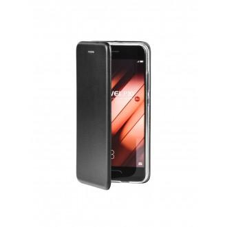 """Juodas atverčiamas dėklas Samsung Galaxy J320 J3 2016 telefonui """"Book Elegance"""""""
