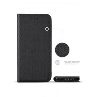 """Juodas atverčiamas dėklas Samsung Galaxy J330 J3 2017 telefonui """"Smart Magnet"""" (EUROPOS RINKAI)"""