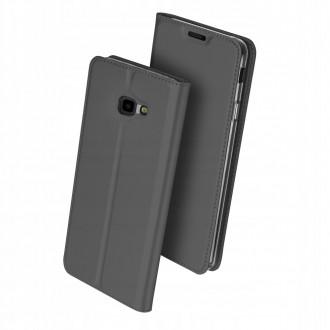 """Juodas atverčiamas dėklas Samsung Galaxy J415 J4 Plus 2018 telefonui """"Dux Ducis Skin"""""""